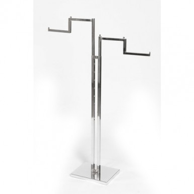 Adjustable two way arm garment rail stepped arms
