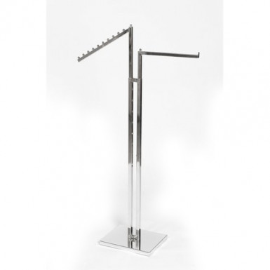 Adjustable two way arm garment rail mixed arms