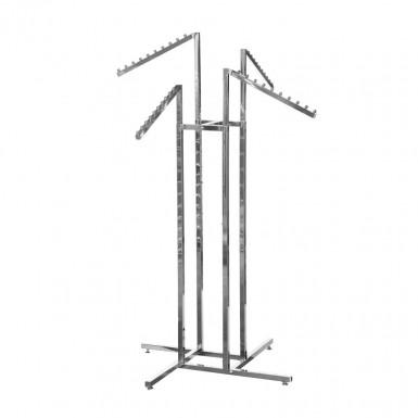 Adjustable four way arm garment rail waterfall arms