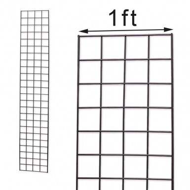 Grid Mesh Panel 1'x6' Black