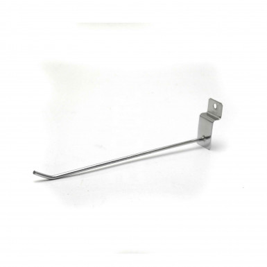 "Slim Slatwall Hook  6"" ( 16cm ) Slimline"