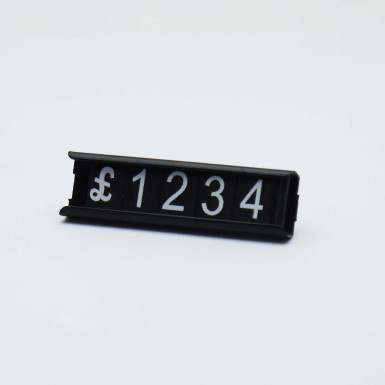 Numeral Tag Price Display Holder with Magnet