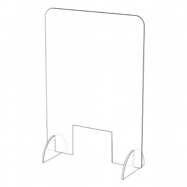 "Freestanding Sneeze Screen With Cut Out – 23""(w) x 31(h)"