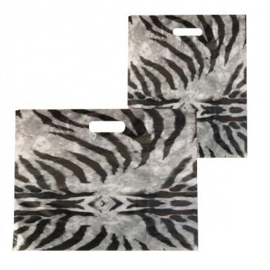 Plastic Carrier Bags Zebra New (PACK OF 100)