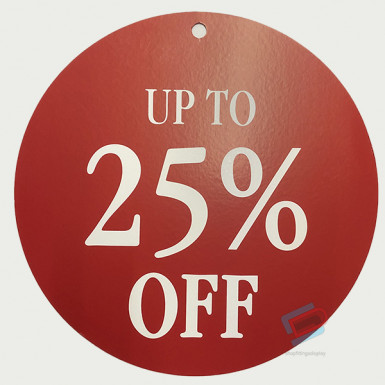 Round Sale Card up to 25%