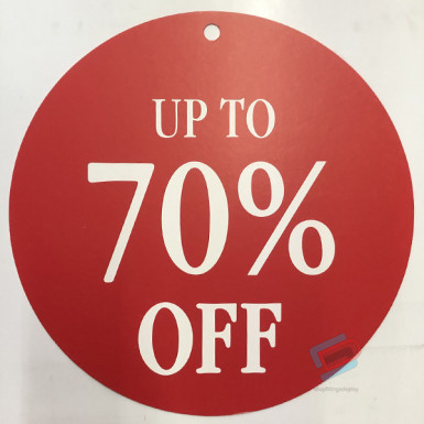 Round Sale Card up to 70%