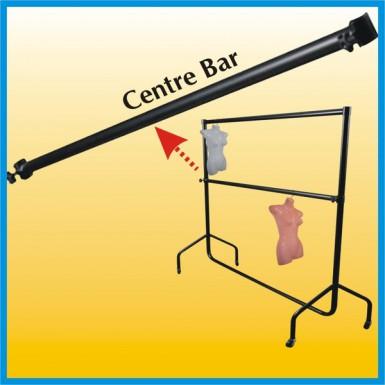 CLOTHES RAIL Centre Bar 4ft Makes Double Hanging Rail! - ALL BLACK