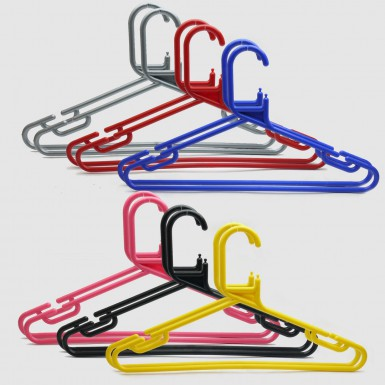 ADULT PLASTIC COAT HANGERS