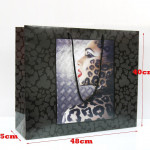 20/100 Paper Bags LADY LEOPARD Quality Accessories Birthday Gift Jewellery Rope Handle